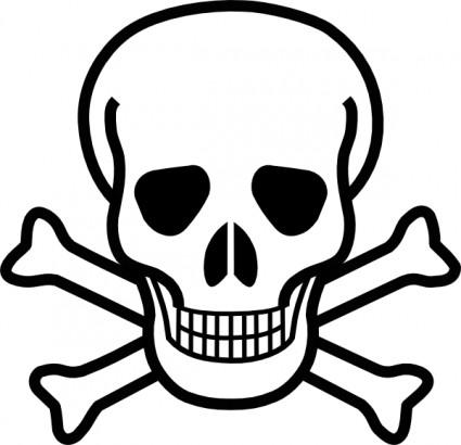 Skull crossbones clip art.