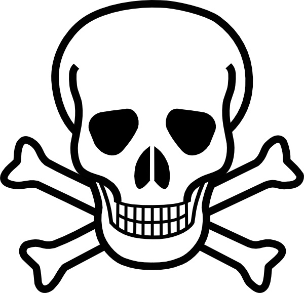 Skull And Crossbones clip art Free vector in Open office drawing.