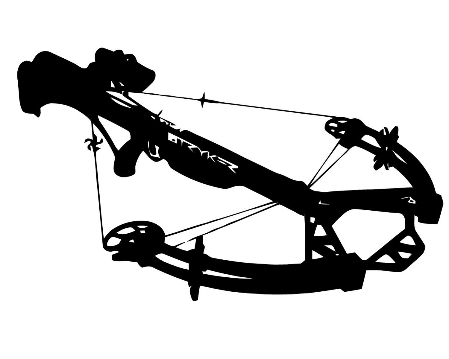 Crossbow hunting clipart.