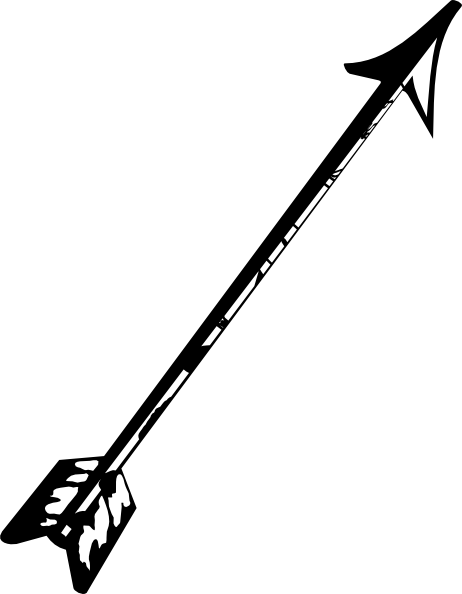Crossbow arrow clipart.