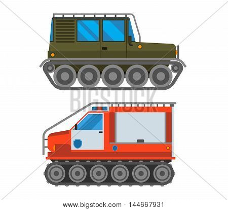 Army vector car and military cross.