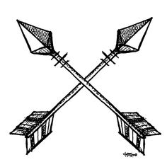 Crossed arrow clipart 1 » Clipart Station.