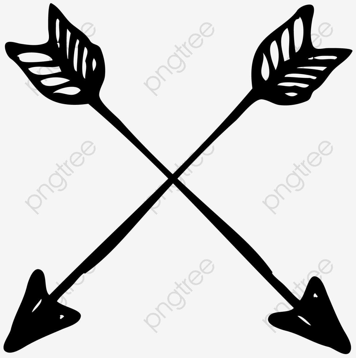 Cross Arrows, Cross Clipart, Two, Arrow PNG Transparent Clipart.