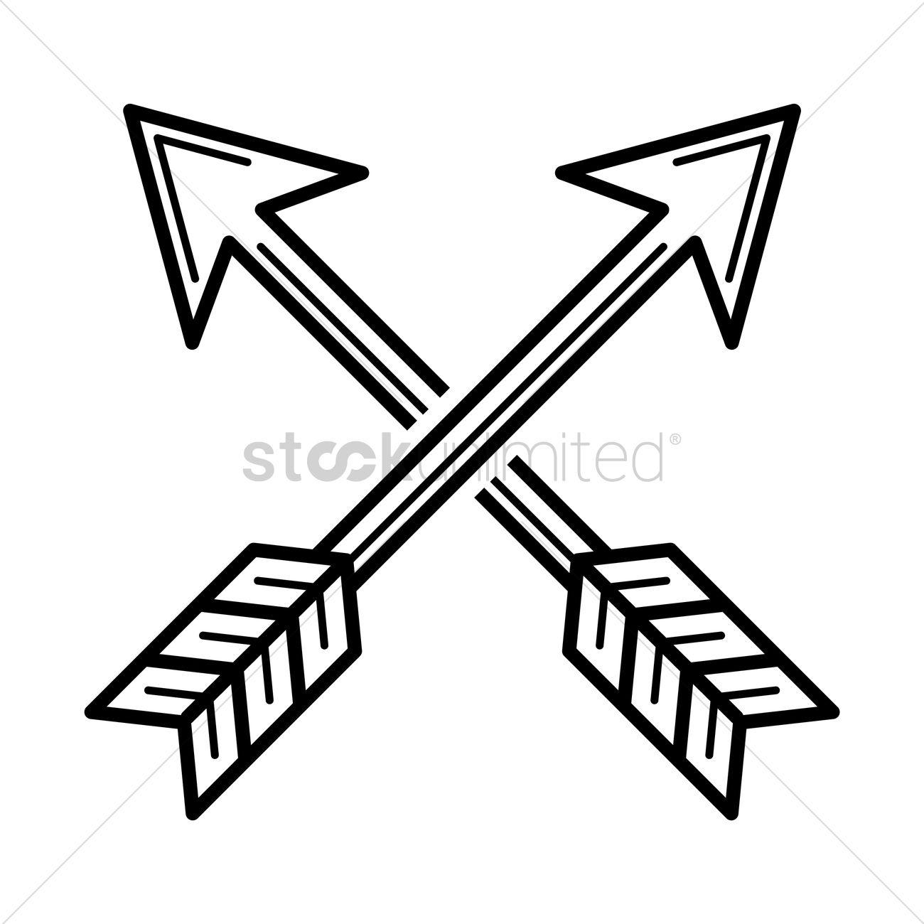 Crossed arrows Vector Image.