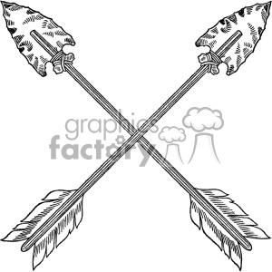vintage crossed arrows vector vintage 1900 vector art GF clipart.  Royalty.