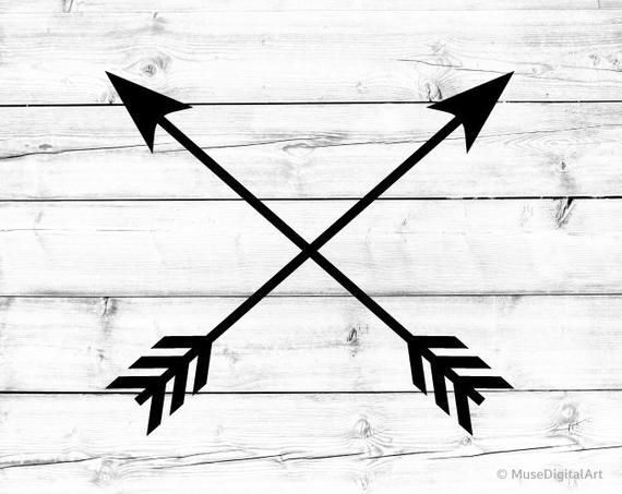 Crossed Arrows Svg Tribal Arrow Svg Arrow Svg Clipart Arrow Cricut Arrow  Cut File Compass Arrows Silhouette Ethnic Crossed Arrows Png Dxf.