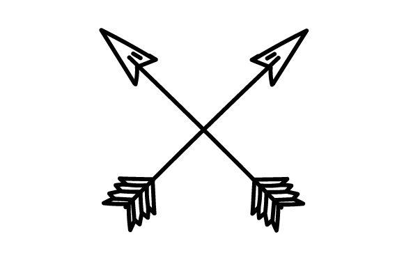 Simple Crossed Arrows.