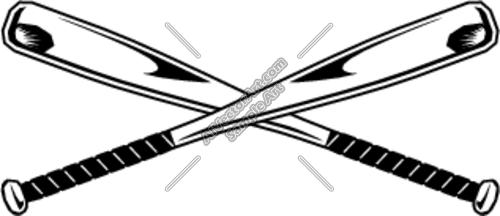 Crossed Baseball Bats.