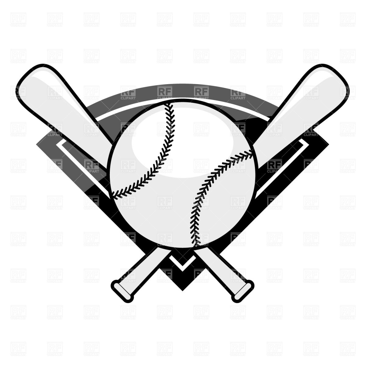 Bat black and white crossed baseball bats clipart black and white 2.