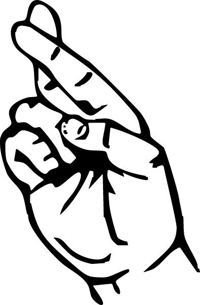 Fingers crossed clip art.