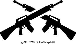 Crossed Rifles Clip Art.