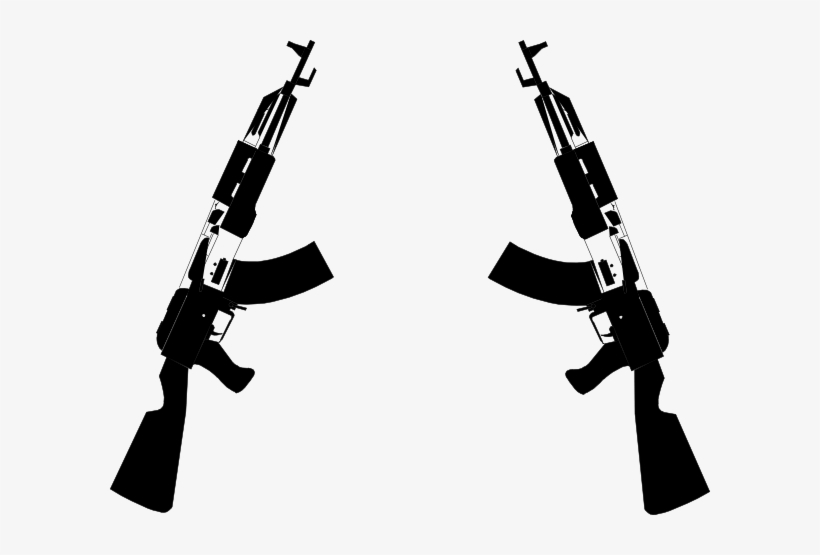 Crossed Gun Clipart.
