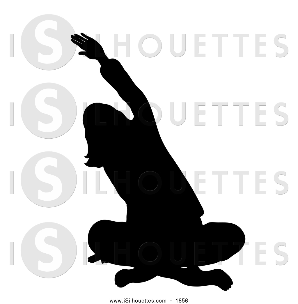 Woman sitting cross legged clipart.