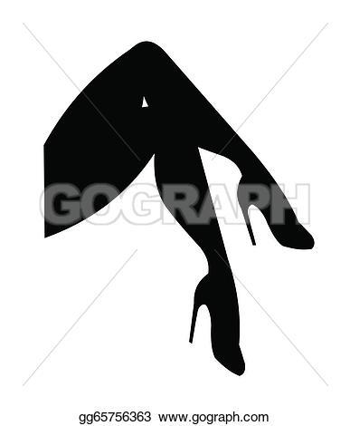 Cross Legs Clip Art.