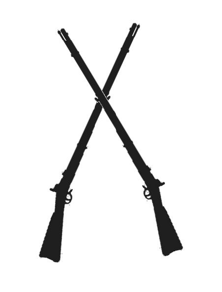 crossed muskets.
