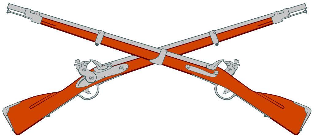 crossed rifles logo.