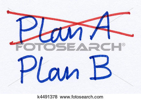 Pictures of Crossed out Plan A and changed strategy to Plan B.