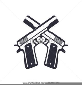 Crossed Pistols Clipart.