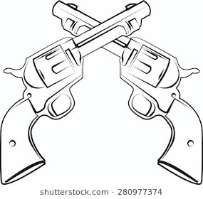 Crossed pistols clipart 7 » Clipart Station.