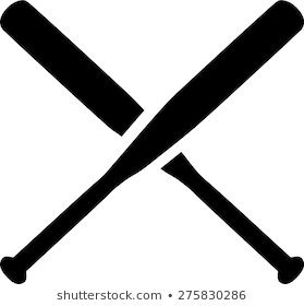 Baseball bats crossed clipart » Clipart Portal.