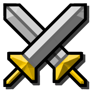 Minecraft Crossed Swords Clipart.