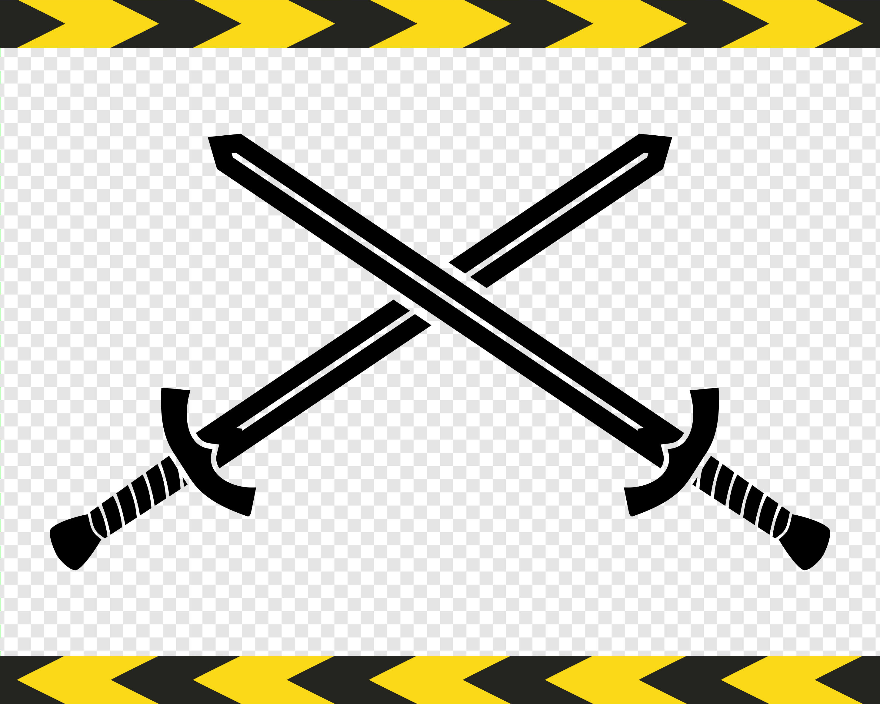 Crossed swords SVG Clipart Scrapbook Png Dxf Pdf files Commercial use.