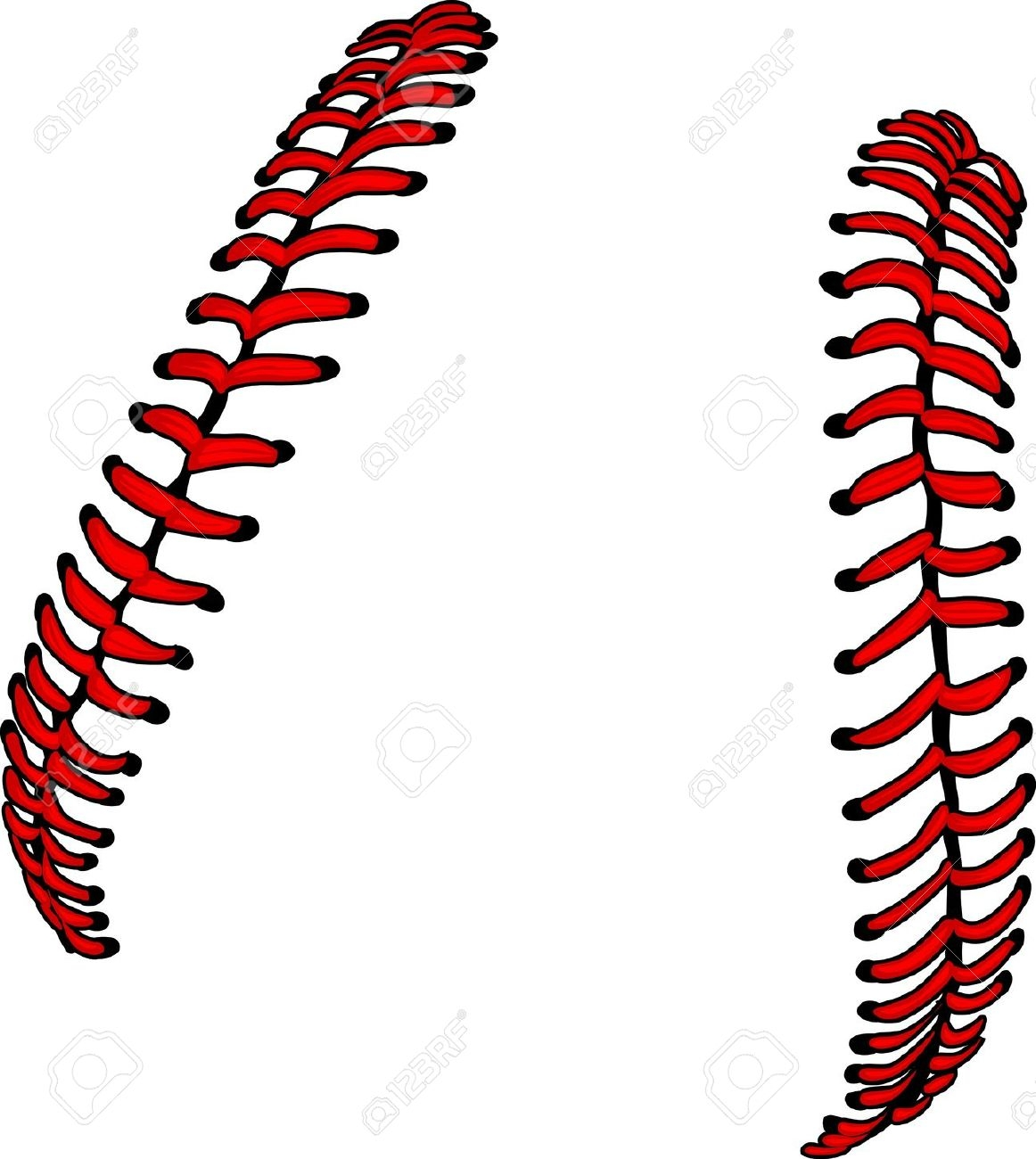 Softball threads clipart.