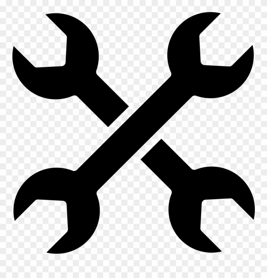 Cross Of Double Side Wrenches Svg Png.