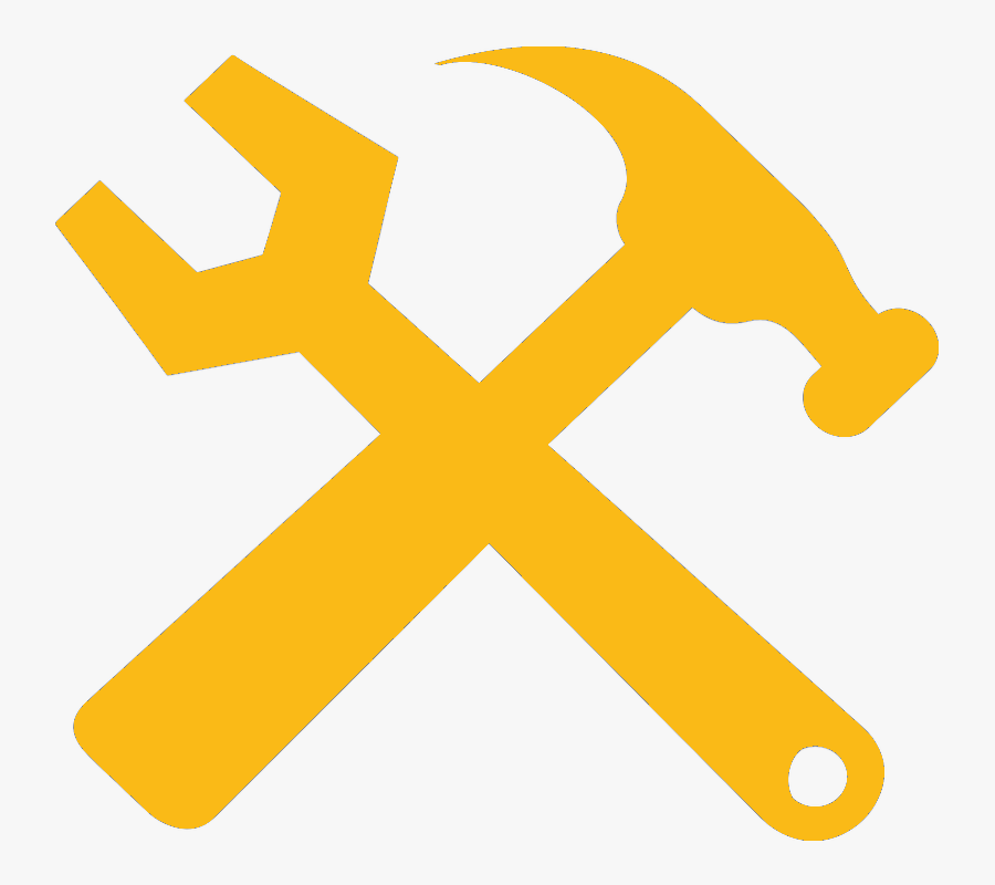 Crossed Hammer And Wrench , Free Transparent Clipart.