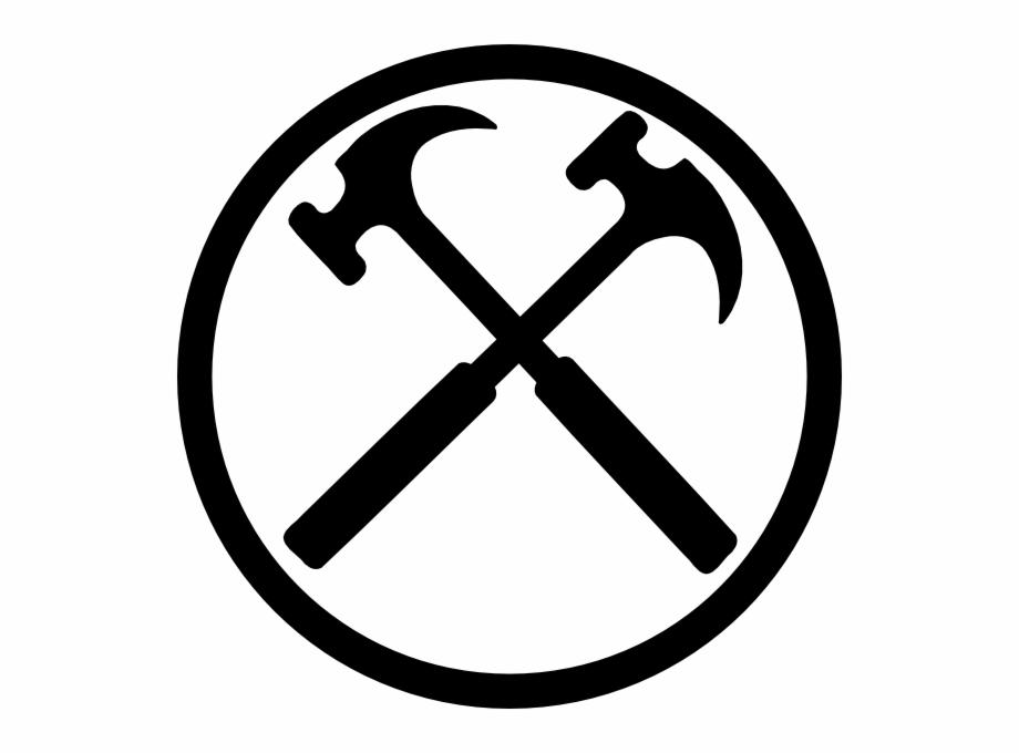 Crossed Hammers Bw Clip Art Hammer Cross Logo.