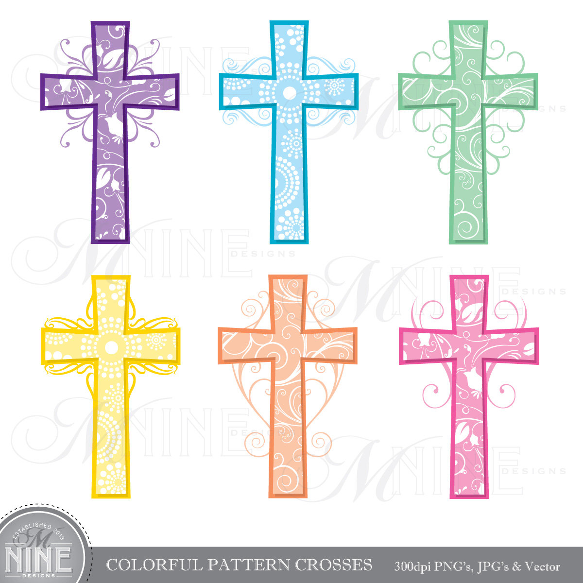 Sprngtime Cross Clipart.