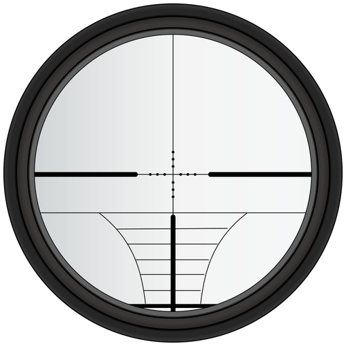 Sniper crosshairs vector drawing.