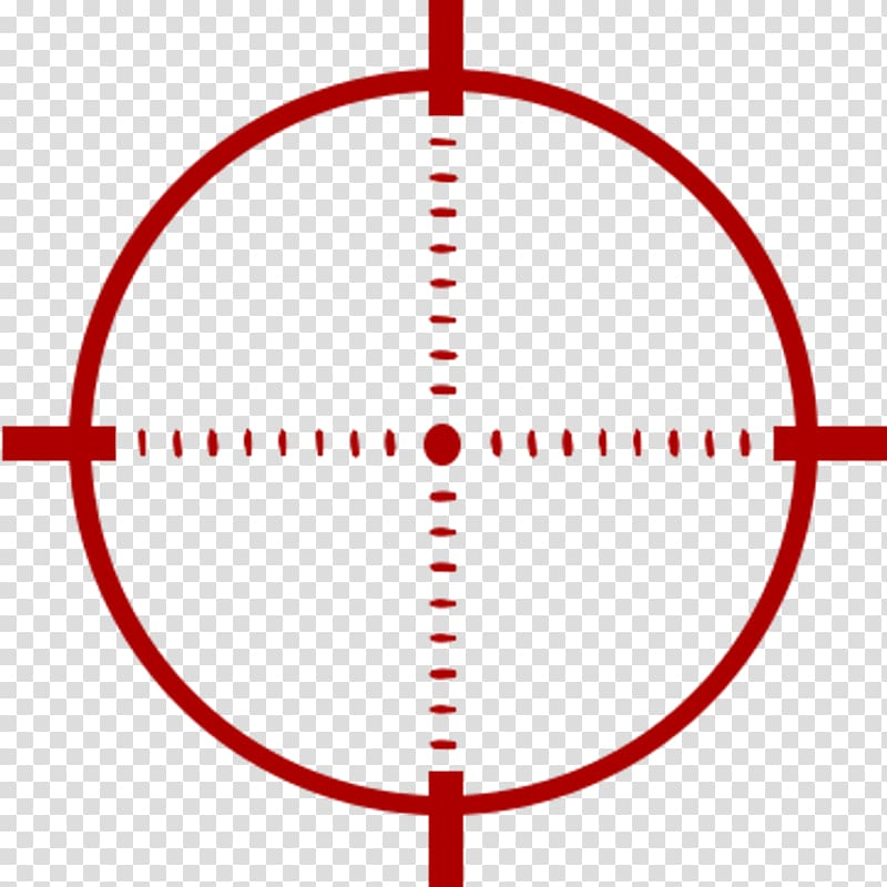 Red target logo, Reticle Telescopic sight , Crosshairs.