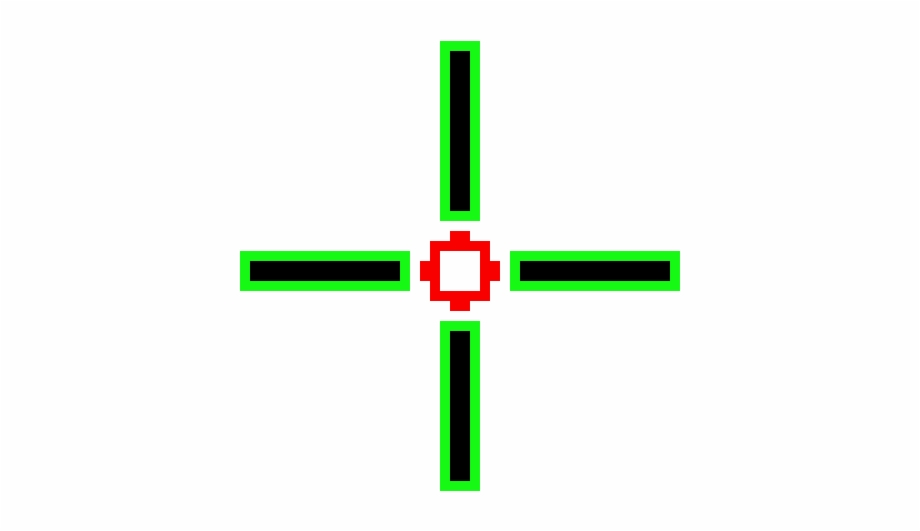 Crosshairs Green Png.