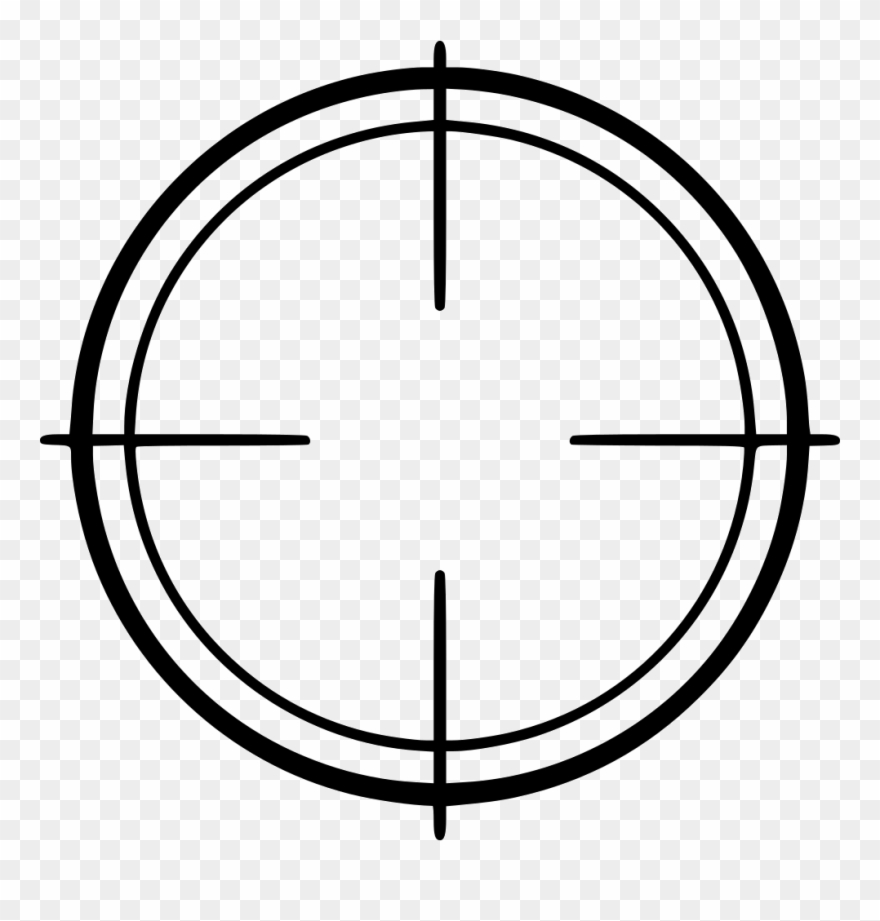 Png Thin Crosshairs Clipart (#2336101).