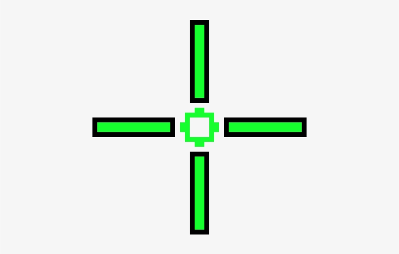 Green Crosshair Png Transparent PNG.
