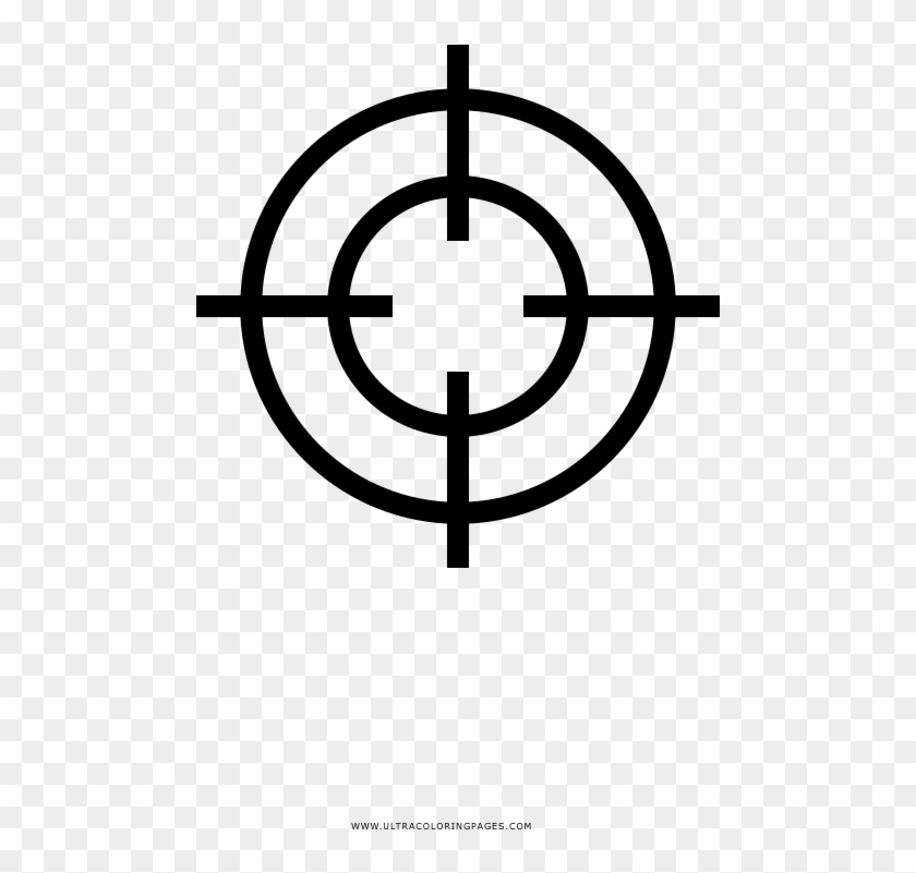 Crosshair Coloring Page.