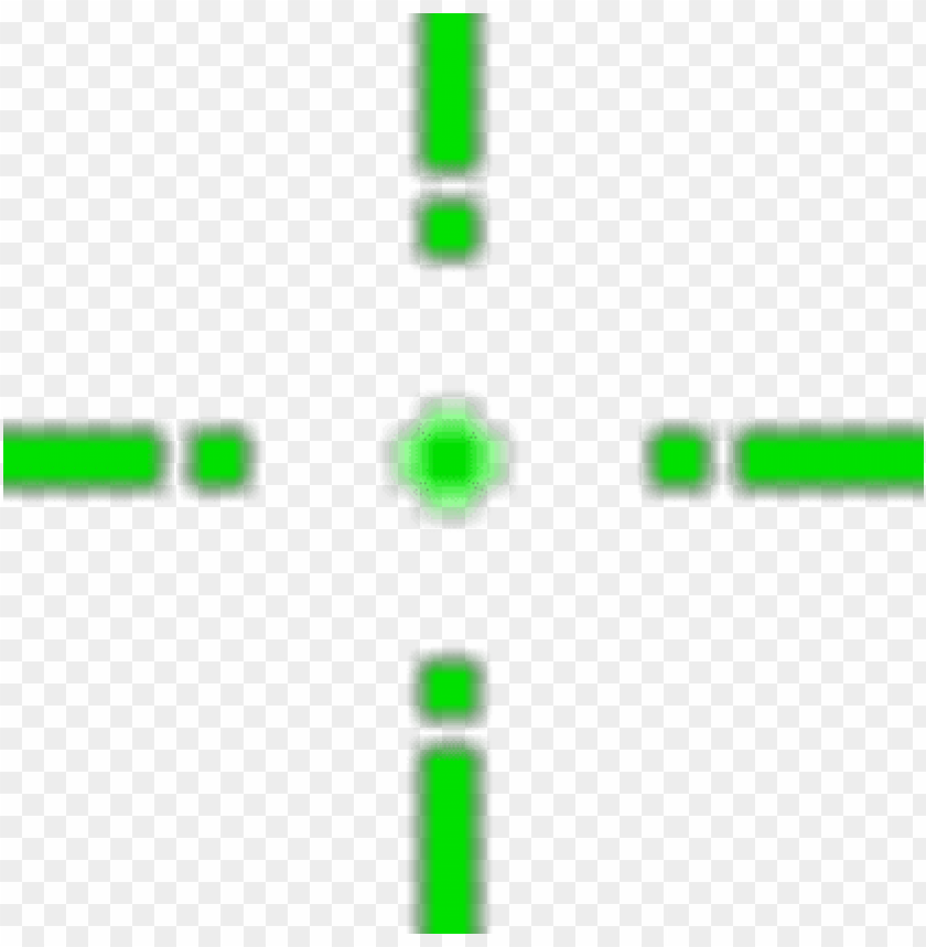 transparent green crosshair PNG image with transparent background.