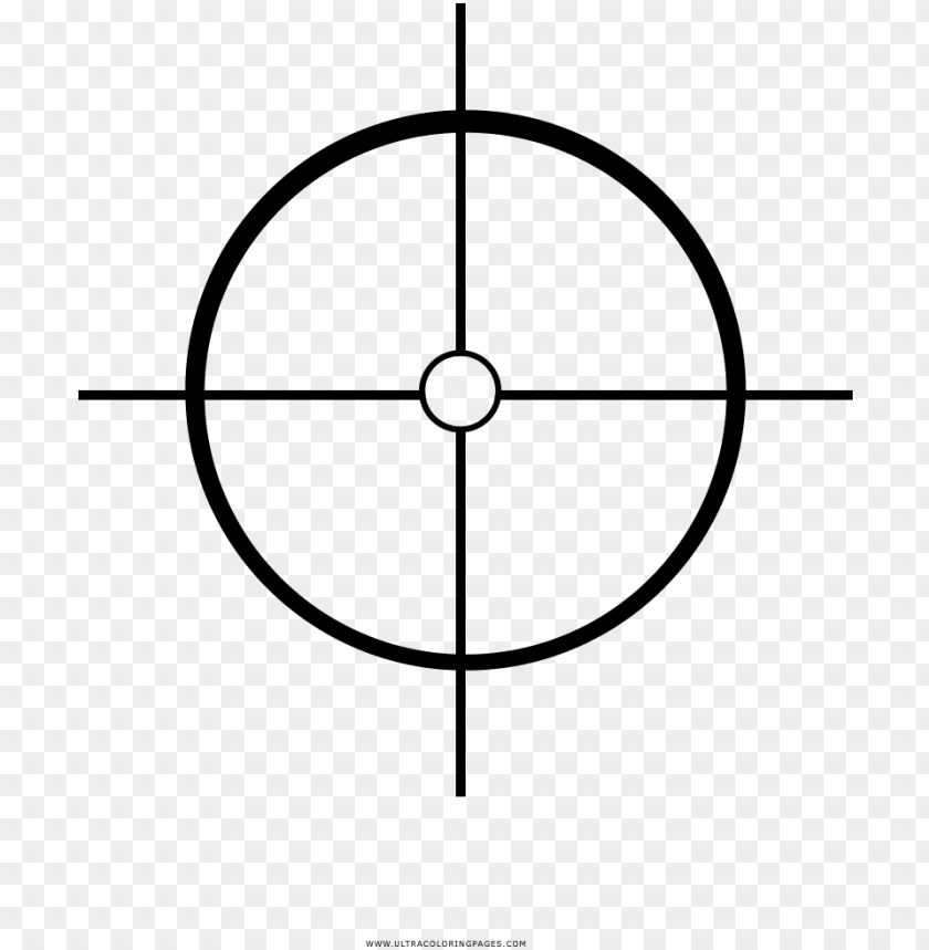 green crosshair PNG image with transparent background.