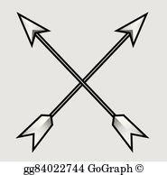 Crossed Arrows Clip Art.