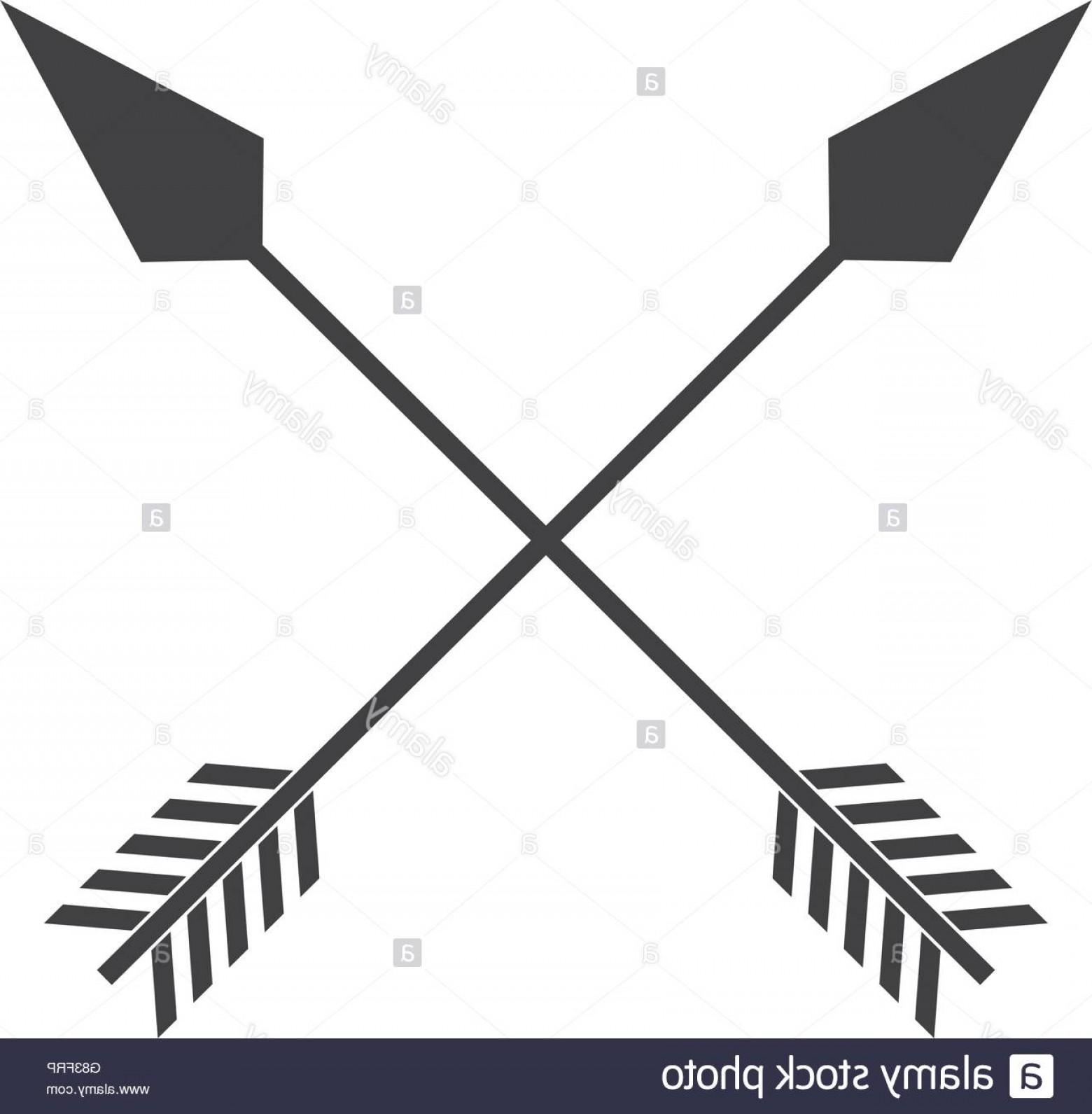 Crossed Indian Arrow Vector.