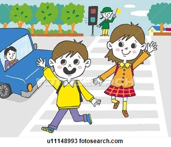 Crossing The Street Clipart.
