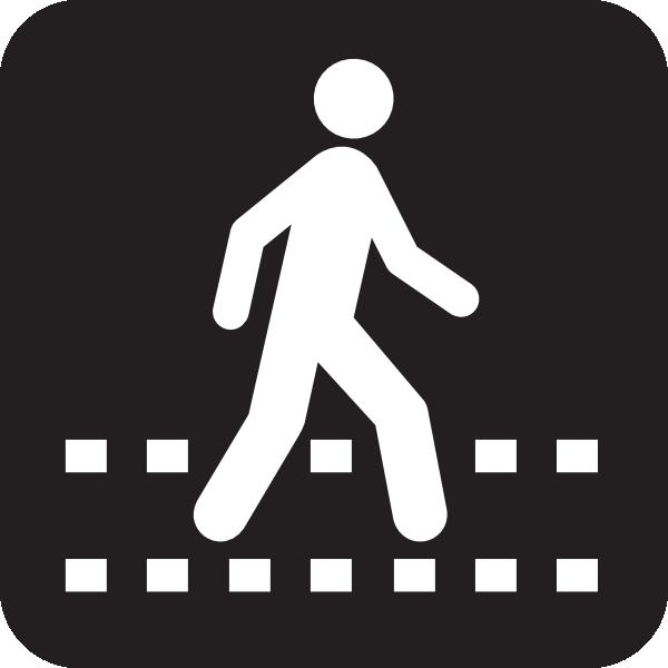 Pedestrian Crossing Black Clip Art at Clker.com.