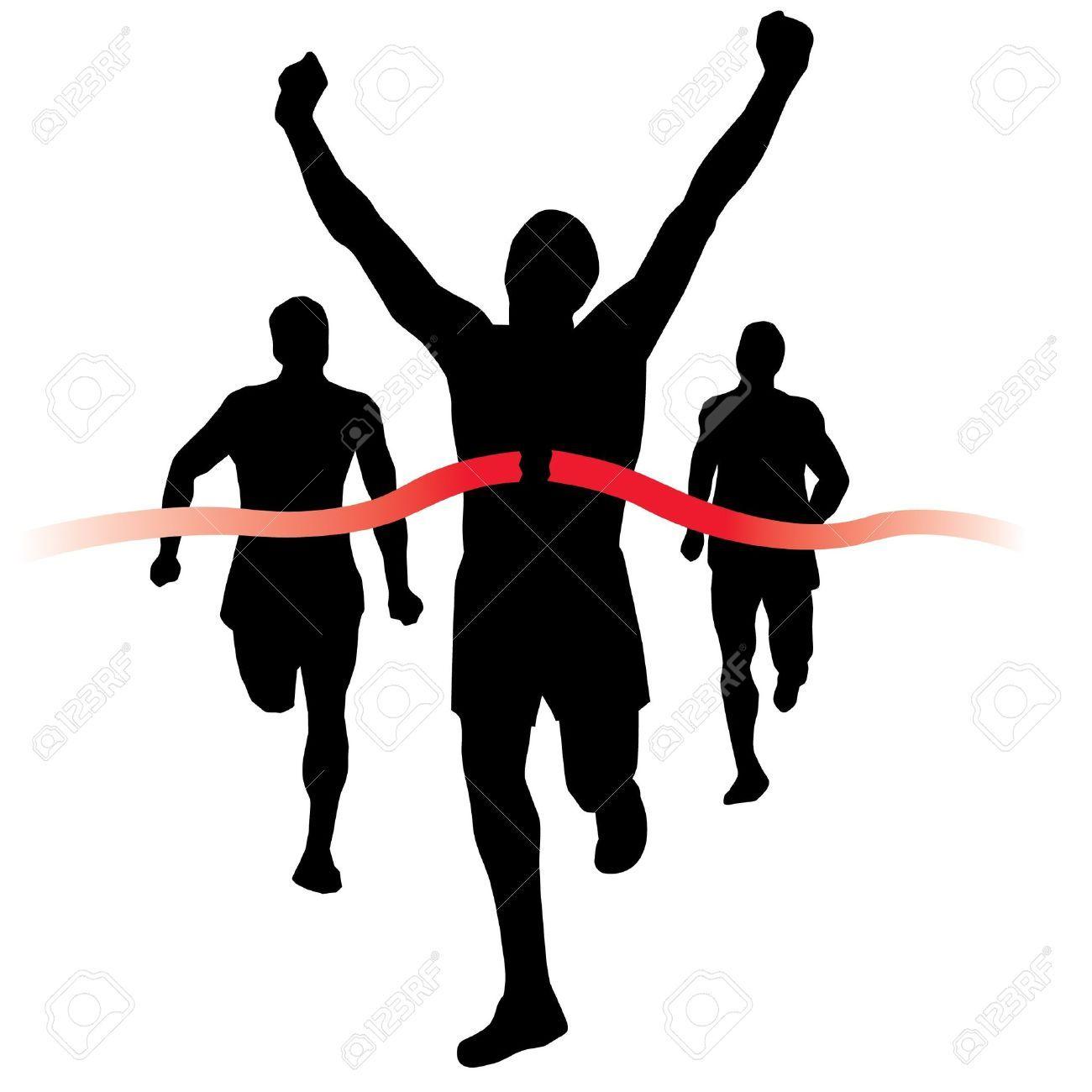 Runner crossing finish line clipart » Clipart Portal.