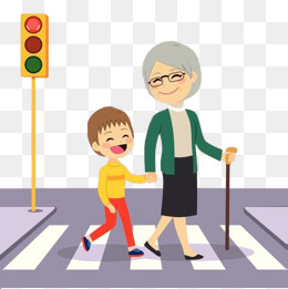 Children Zebra Crossing Clipart.