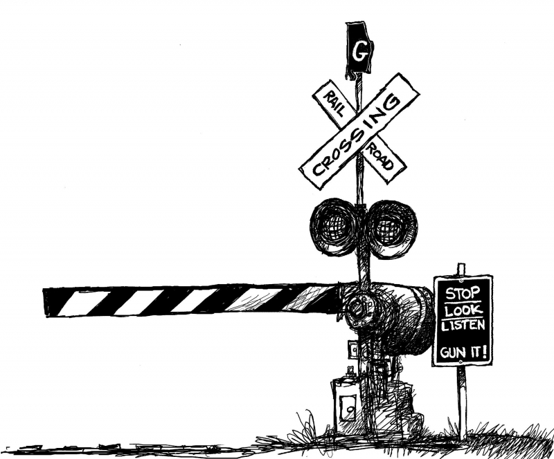 railroad crossing coloring pages - photo#25