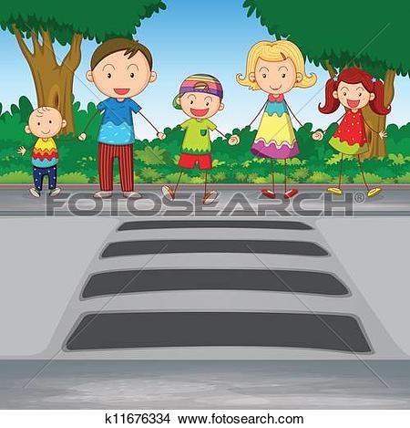 Clipart of Pedestrian Crossing k5480525.