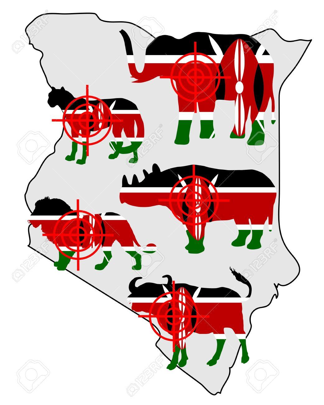 Big Five Kenya Cross Lines Royalty Free Cliparts, Vectors, And.