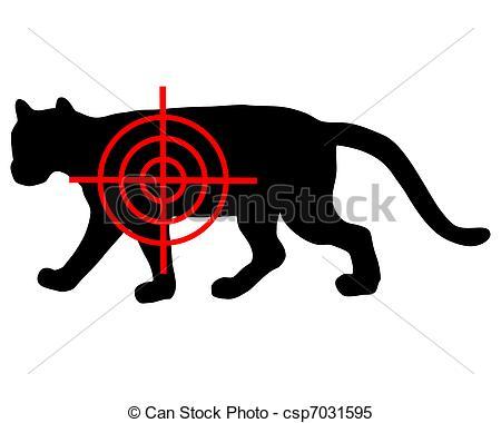 Clipart Vector of Cougar crosslines csp7031595.