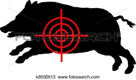 Clipart of Boar crosslines k8530513.